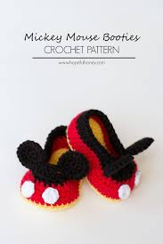 thanksgiving mickey mouse mickey mouse booties crochet pattern pictures photos and images