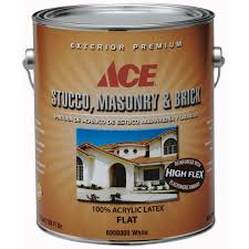 ace exterior stucco masonry u0026 brick flat paint gallon
