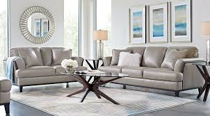 augustina gray leather 5 pc living room leather living rooms gray
