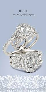Jeulia Wedding Rings by Interlocking Round Cut Created White Sapphire Women U0027s Wedding Band