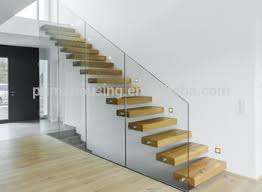 modern glass folding stairs glass floating staircase build wood