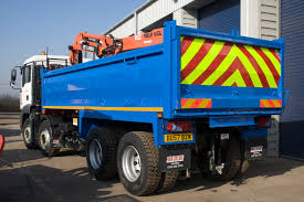 blue dump truck with mini excavator first capital business finance