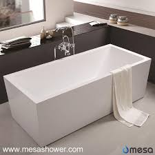 Wholesale Bathtubs Suppliers China Modern Simple Design Rectangular Freestanding Bathtub