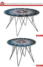 Wohnzimmertisch Zu Verkaufen Couchtisch Prunus Wohnzimmertisch Tisch Glas Mosaik Print Schwarz 80