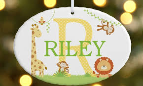 personalized oval ornaments personal creations groupon