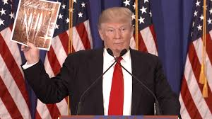 Flag Placement Trump Turns Press Conference Into Product Placement Ad Nbc News