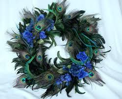 peacock home decor wreath feathers peacocks wreaths and