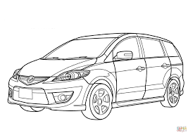 mazda premacy minivan coloring page free printable coloring pages