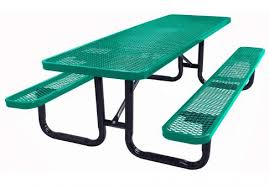Commercial Picnic Tables by 6 Foot Expanded Metal Picnic Table Commercial Site Furnishings