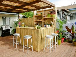 awesome bamboo materials creating wonderful backyard bars designs