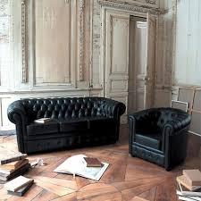 maison du monde canapé chesterfield gestepptes 3 sitzer sofa aus leder schwarz chesterfield maison