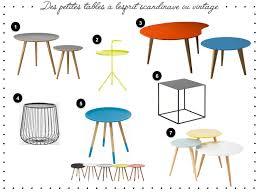 table basse bout de canapé des petites tables à l esprit scandinave ou vintage un joli monde
