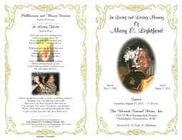 funeral program sle obituary borders clipart