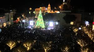 lighting the tree in bethlehem 2015 inside