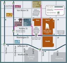 Austin Convention Center Map by Downtown Phoenix Hotel Map