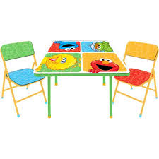 activity table and chairs sesame street activity table and chairs set walmart com