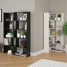 Overstock White Bookcase by Altra Transform Expandable Bookcase Midnight Onyx Walmart Com