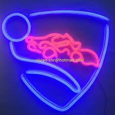 large custom game neon sign light rocket league logo led neon