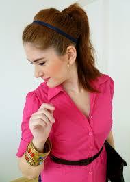 headband ponytail 5 posh ways to wear headbands aelida