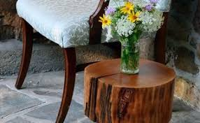 Wood Stump Coffee Table Turn A Tree Stump Into A Side Table Hometalk