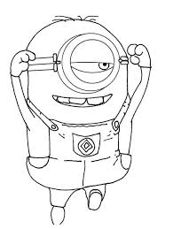 free printable despicable coloring pages