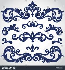 Victorian Design Vector Set Scrolls Vignettes Victorian Style Stock Vector