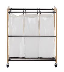 Stainless Steel Laundry Hamper by Trinity Ecostorage 3 Bag Bronze Laundry Cart Trinity Store