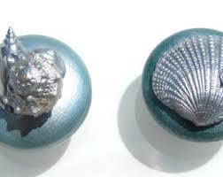 Sea Glass Door Knobs by Knobs Sea Glass Mint Seashell Starfish Knobs With Swarovski