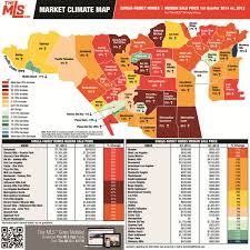 Climate Map Market Climate Map 2nd Quarter 2013 Vs 2014 Los Angeles
