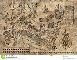 Fantasy World Map by Map Of The Fantasy World 2 Stock Illustration Image 39488516