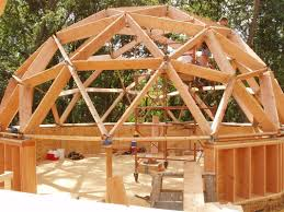 Geodesic Dome House Your Guide To Wood Frame Dome Home Construction