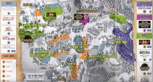 Universal Map Halloween Horror Nights Hollywood Map