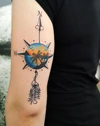 compass tattoo meaning and designs ideas