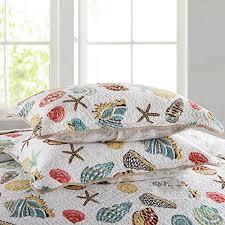 theme comforter mixinni soft coral bedding set seashells theme