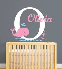 online get cheap whale nursery aliexpress com alibaba group customized name whale nautical theme wall stickers for girls kids baby room nursery wall decals birthday