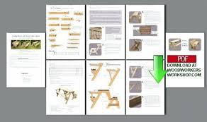 folding picnic table bench plans pdf folding bench picnic table pict ideas
