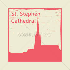 st stephen cathedral rubber st vector image 1961137