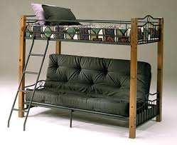Rowland Twin Over Futon Bunk Bed - Twin over futon bunk bed with mattress