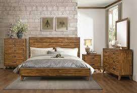 Bedroom Furniture Mn Sorrel Brown Eastern King Panel Platform Bedroom 4pc Set For