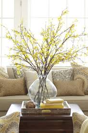 early home decor faux forsythia branch winter spring and decorating