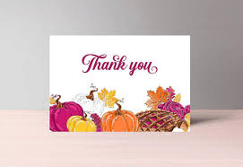fall thank you cards printable thanksgiving thank you card