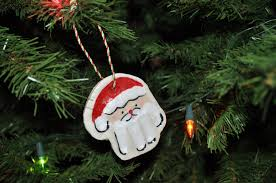 diy santa handprint ornaments thifty sue