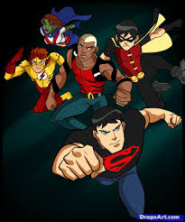 young justice how to draw young justice step by step cartoon network