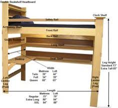 Diy Loft Bed With Desk Loft Bed Blueprint Things To Make Pinterest Lofts Room And