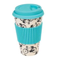 bicycle rider u0027s bamboo travel mug dotcomgiftshop