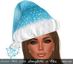 blue santa hat second marketplace rockcandy santa hat w snowflakes