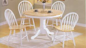 fancy white round dining table set round kitchen table and chairs