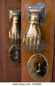 decorative door knockers decorative door knockers in cadiz andalusia spain stock photo