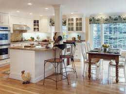 Kitchen Table With High Chairs by Exciting White Kitchen Design With High Chairs And Wooden Table