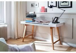 Schreibtisch Ahorn Massiv Schreibtisch 140 X 58 Cm Weiss Matt Lackiert Buche Massiv Woody